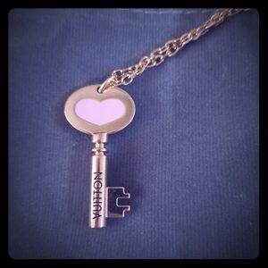 Louis vuitton blush pink key necklace authentic